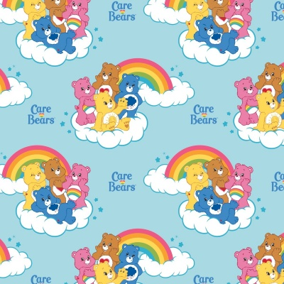Care Bears Blue Rainbow Cotton