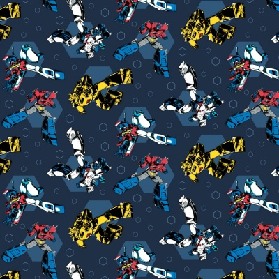 Transformers Dark Blue Retro Cotton