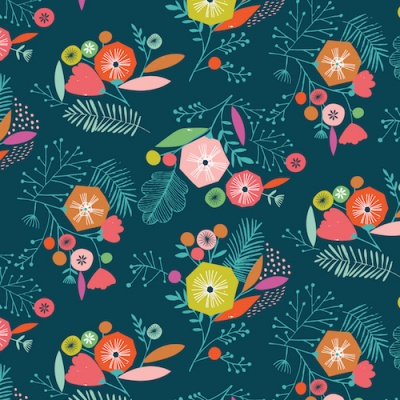 Flock Floral Cotton