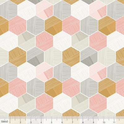 Honeycomb Pink Cotton