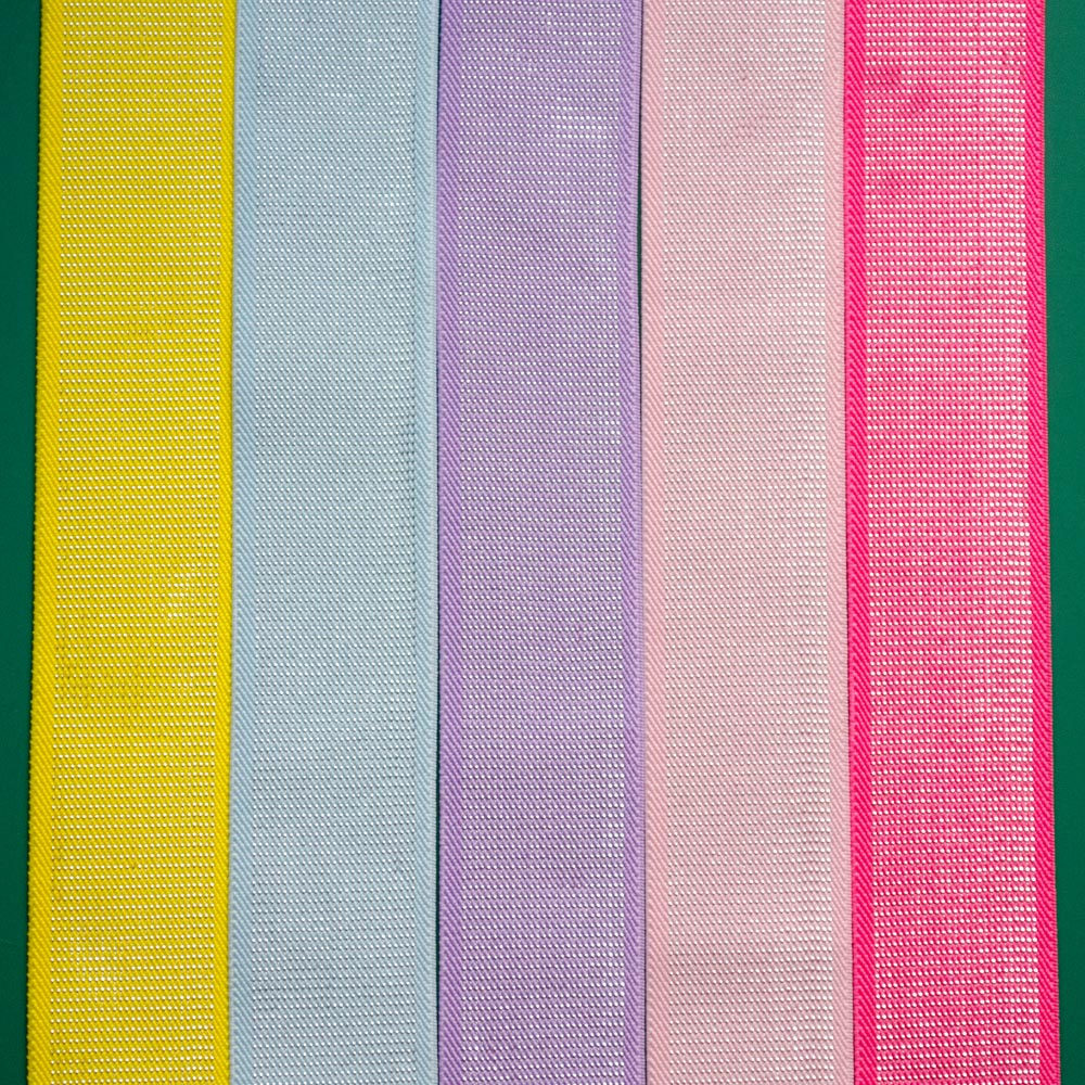 Rooftop Fabrics 4cm Plush Waistband Elastic With Silver