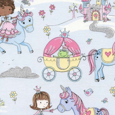 Your Majesty Princess & Unicorn Glitter Cotton