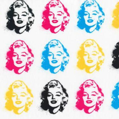 Bright Marilyn Monroe Heads Cotton