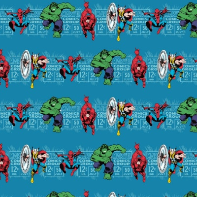 Marvel Hero's Teal Cotton