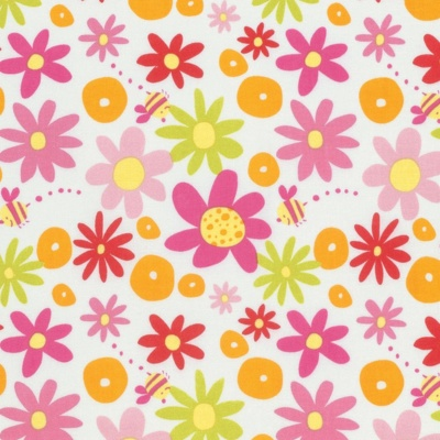 Pandas Pink Daisy Cotton