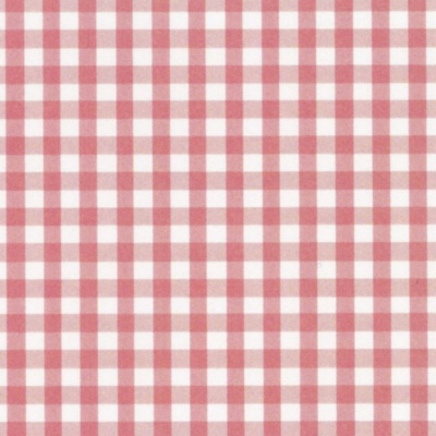 Elephant Gingham Pink Cotton