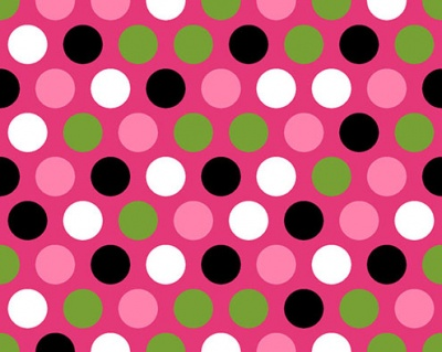 Mod Dot Fuchsia Black Plush