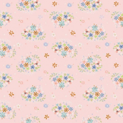 Neverland Star Flower Pink Cotton