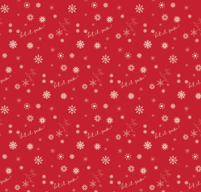Winter Tales Snowflake Red Cotton