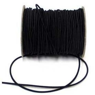 3mm Black Cord Elastic
