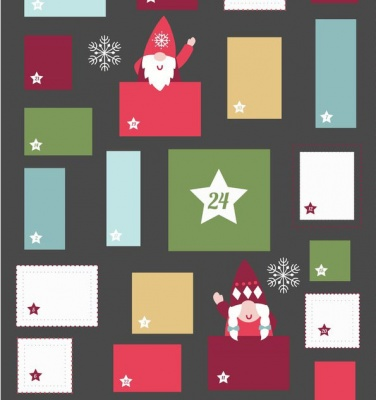 Hygge Christmas Advent Calendar Slate Cotton