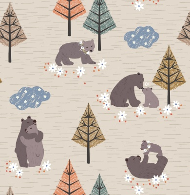 Bear Hug Natural Cotton