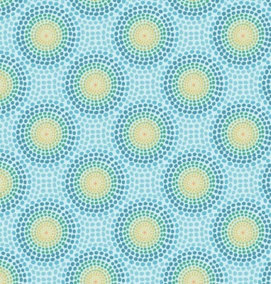 Bluey Circles Cotton