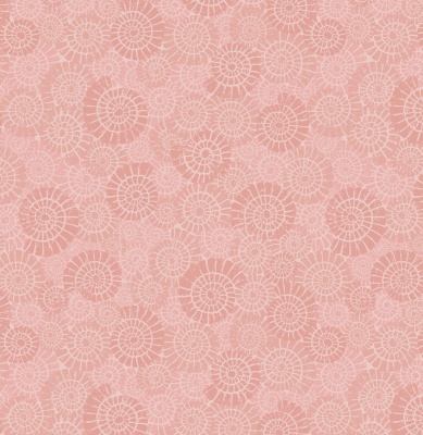 Coral Pink Ammonites Cotton