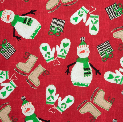 Craft Paper Christmas Red Cotton