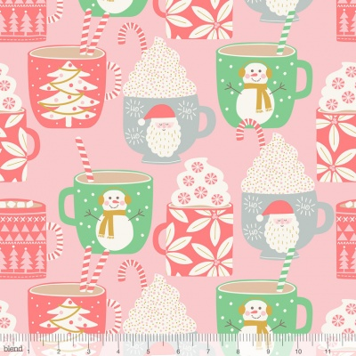 Cups Of Cocoa Pink Cotton