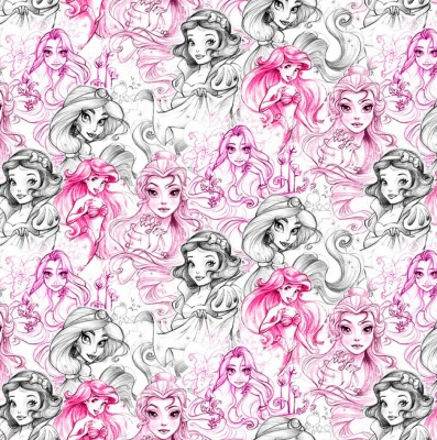 Disney Princess Sketch Cotton