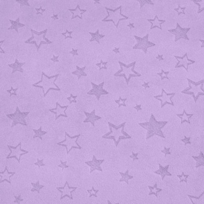 Star Embossed Lilac Plush