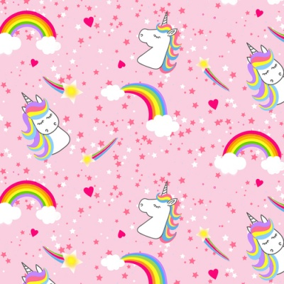 Emelia's Dream Unicorns & Rainbows Cotton