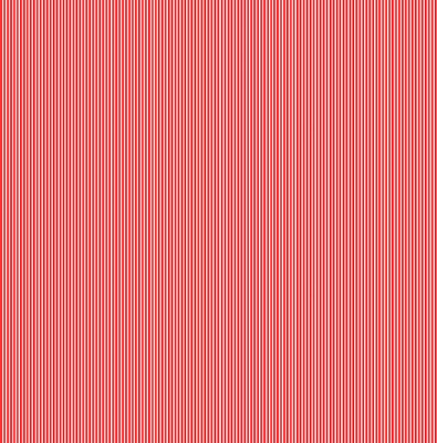 Festive Pinstripe Red Cotton