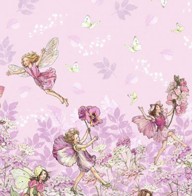 Flower Fairies Petal Border Cotton