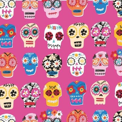 Fiesta Sugar Skulls Cotton
