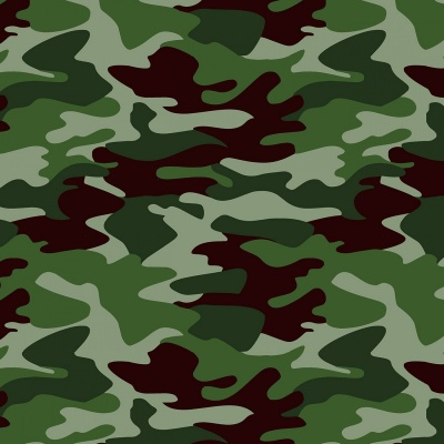 Camoflauge Green Cotton