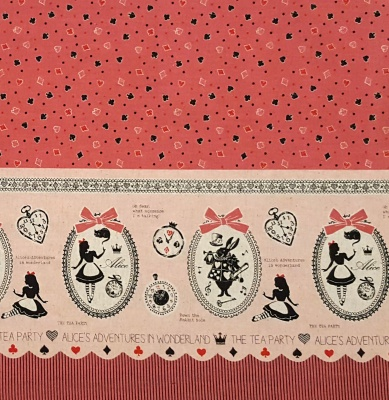 Girls Story Alice Pink Border Cotton Linen