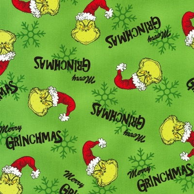 Dr Seuss How The Grinch Stole Christmas Green Cotton