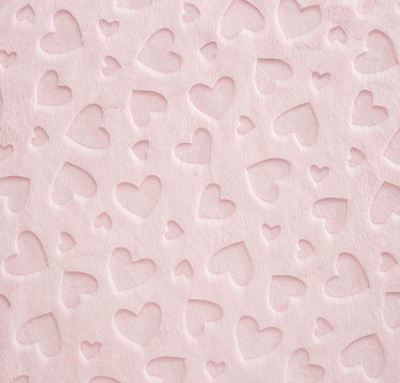 Heart Embossed Blush Plush
