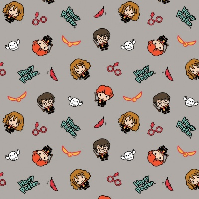 Grey Harry Potter Kawaii Trio Toss Cotton