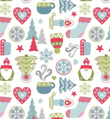 Hygge Christmas On Cream Cotton
