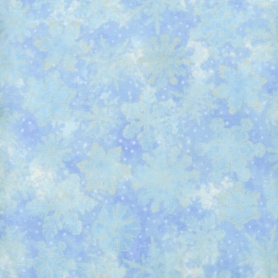 Ice Blue Holiday Accents Metallic Cotton