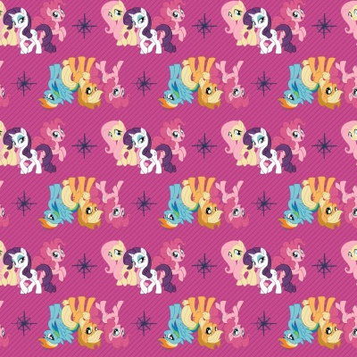 Magenta MLP Friends Cotton