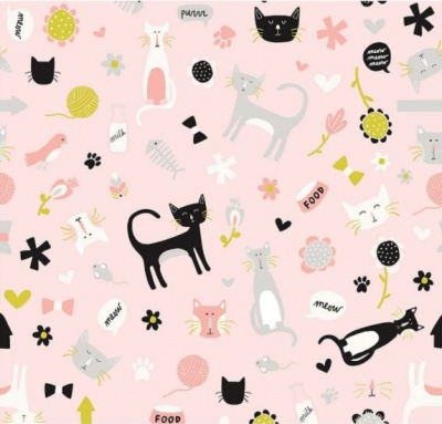 Meow Main Pink Cotton