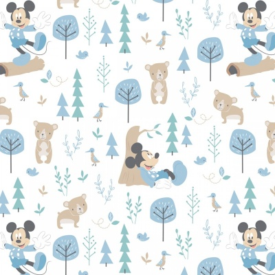 Mickey Mouse Blue Little Bear Cotton
