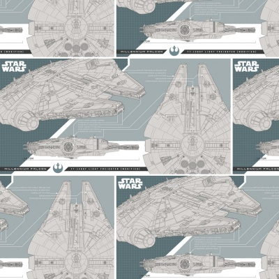 Star Wars Lead Millennium Falcon Cotton