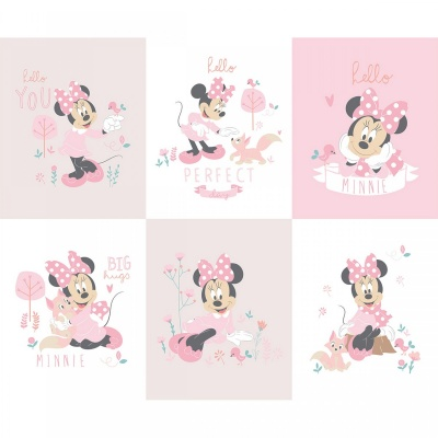 Minnie Mouse Pink Little Meadow Panel