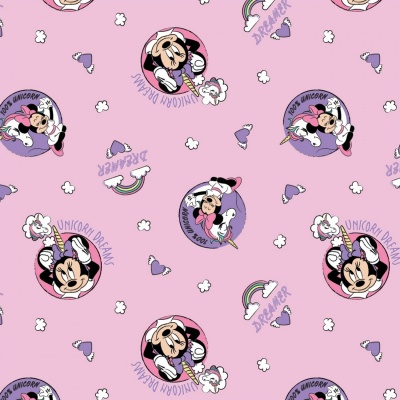 Pink Disney Minnie Unicorn Dreams Cotton