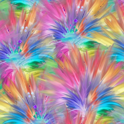 Party Animal Multi Plumes Digital Cotton