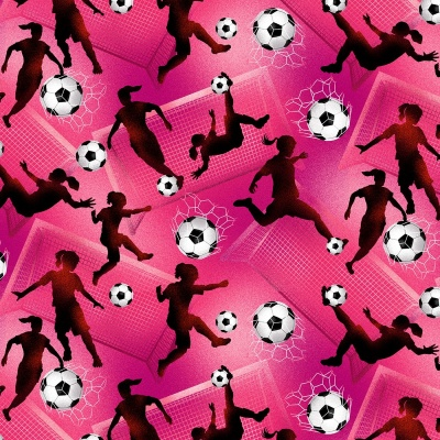 Pink Tossed Girls Soccer Cotton