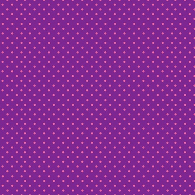 Pink Spot on Purple Cotton