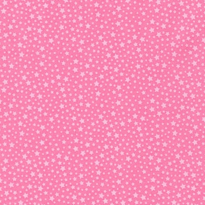Happy Little Unicorns Pink Stars Cotton