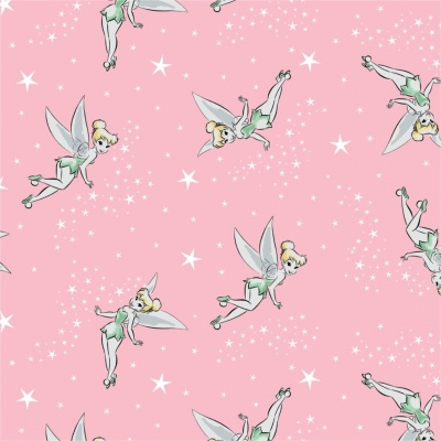 Pink Tinkerbell Pixie Dust Disney Cotton