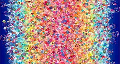 Rainbows Circles and Dots Cotton