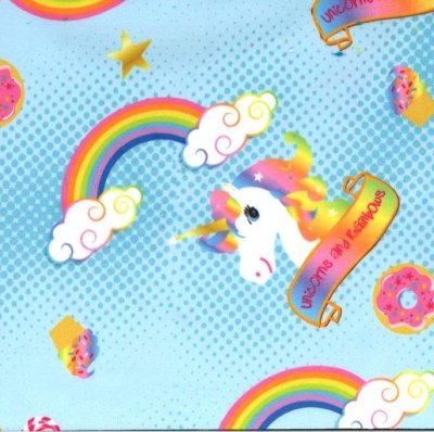 Rainbows & Unicorns Blue Plush