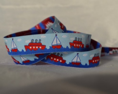 Boats Light Blue Ribbon