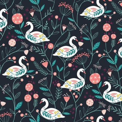 Rivelin Swans Cotton