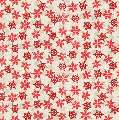 Scandi 2018 Snowflake Red Cotton