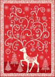 Scandi 2019 Advent Panel Red